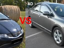 Honda civic 4d 5d запчасти разборка honda