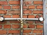 Хрест нержавіючий , Хрест надмогильний - фото 3