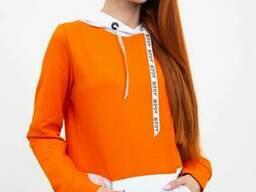 Худи женское 102R051 цвет Оранжевый