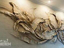 Барельеф, лепка, фреска на стене, барельеф в рисунке. Крым