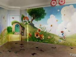 Художественная роспись стен, роспись муралов