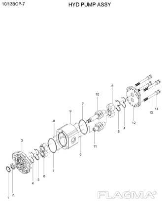 Гидравлический насос для Hyundai 10/13BOP-7