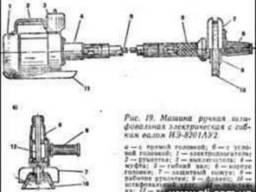 ИЭ-8201А машинка шлифовальная с гибким валом, шлифмашина