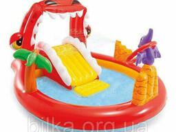 Игровой центр - бассейн Intex 57163 Happy Dino (22571) размер 196х170х15 см (без. ..