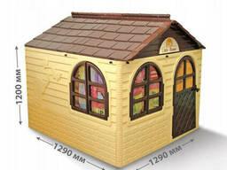 Детский игровой домик со шторками Doloni TOYS пластиковый (02550/2)