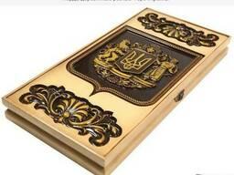 Игровые нарды из дерева «Герб Украины» Код: НР-7
