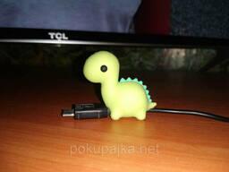 Игрушка Динозаврик органайзер силиконовый сувенир для USB. ..