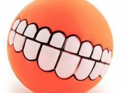 Игрушка для питомца, мяч для собаки Оранжевая. (74358328)