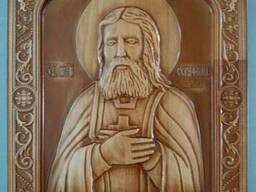 Икона Серафима Саровского 235х275х18