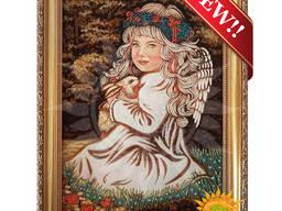 Иконы из янтаря, картины, портреты по фото из янтаря