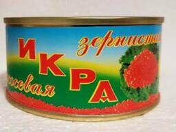 Икра красная лососевая, 140 грамм