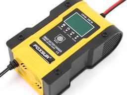 Импульсное автоматическое автомобильное зарядное устройство Foxsur 12V/6A 24V/3A для АКБ