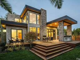 Индивидуальный проект дома от 20грн/м2. Визуализация дома. С