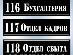 Информационные и адресные таблички