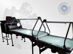 Инспекционный конвейерный стол для сортировки продукции