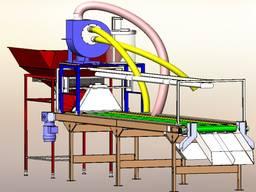 Інспекційний стіл для горіхів з системою аспірації