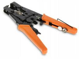 Инструмент HT-5082R для опрессовки компрессионных разъемов серий F, BNC , RCA, IEC