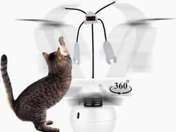 Интерактивная игрушка для кошек Pet Elite Robot-E 3in1, шар – вертушка с лазером и. ..