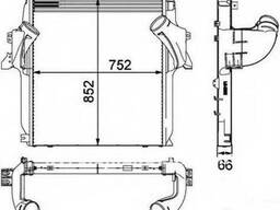 Интеркуллер Mercedes Actros радиатор воздуха