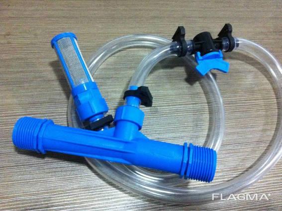 """Инжектор Вентури 3/4"""" комплект для внесения удобрений. .. ."""