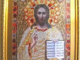 Исус Христос алмазная вышивка лик Христа