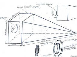 Изделие - пирамида из полипропилена (полиэтилена)