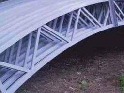 Изготовление арок, ферм под навесы из поликарбоната