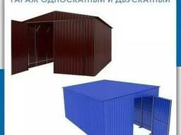 Изготовление гаража. Гараж из профнастила, листового металла
