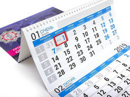 Изготовление календарей на 3 спирали с логотипом —. ..