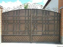 Изготовление кованых изделий. Входные ворота, лестницы.