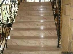 Изготовление лестниц и ступеней из камня в Киеве