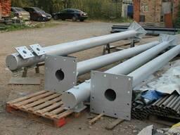 Изготовление металлических колонн.