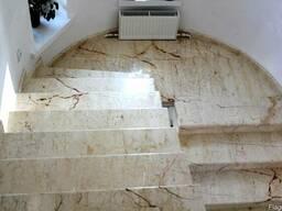 Изготовление и монтаж мраморных лестниц, полов, подоконников