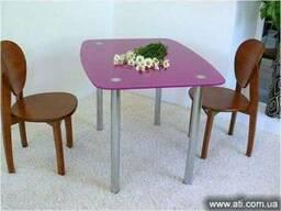 Изготовление обеденных стеклянных столов на заказ Киев