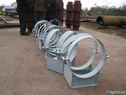 Изготовление опор трубопроводов.