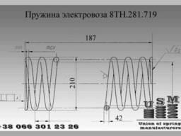 Изготовление пружин электровоза чертеж 8ТН.281.719