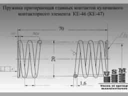 Изготовление пружин. Пружина притирающая контактора КПД-114