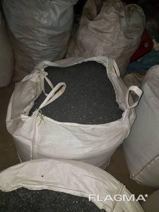 Измельченный ПП черного цвета, полипропилен