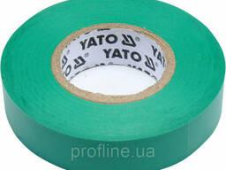 Изолента ПВХ 15 мм х 20 мм зелёная YATO YT-81595