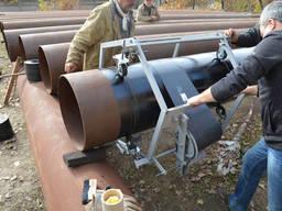 Изоляция труб механической машинкой для труб МИРУ
