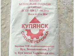 """Известь гашеная гидратная строительная """"Пушонка"""", 20 кг"""