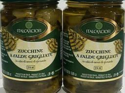 Кабачки смажені на грилі в олії 314 мл, Італія.