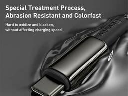 USB кабель Type-C на Type-C Baseus Tungsten Gold Fast Charging |2m, 100W, 5A|. Black