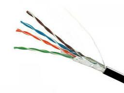 ElectroHouse Кабель вита пара FTP 4х2х0,51 Cu (зовнішній монтаж) ПЕ чорний