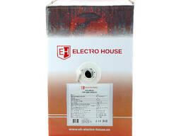 ElectroHouse Кабель вита пара FTP 4х2х0,51 Cu ПВХ сірий (внутр. Монтаж)