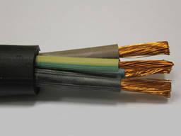 Кабель гибкий в резиновой изоляции КГ 3х6 1х4 мм2