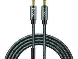 Кабель 3,5 на 3,5 с микрофоном Hoco UPA04 AUX Noble with mic UPA04 |1M|. Grey