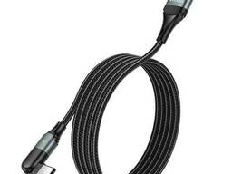 USB кабель c USB на Type-C HOCO U100 Orbit charging data cable |1.2m, 3A|. Black