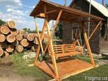 Качель деревянная - фото 1