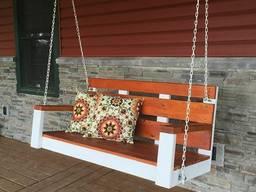 Качели ️ из дерева подвесные от производителя